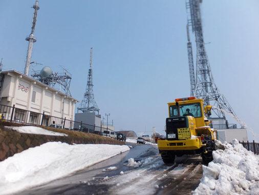 函館山 山頂駐車場除雪作業