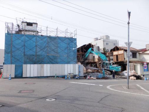 混構造(木造+RC造)3階建旅館 解体工事