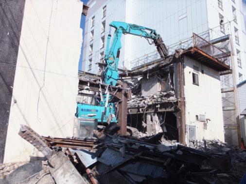 鉄骨造3階建 雑居ビル解体工事