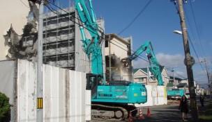 コンクリート造 4階建官舎.解体工事