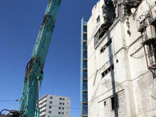 RC造6階 建雑居ビル 解体工事(地上から)